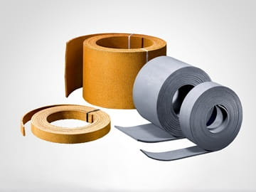 Friction material molded, - or woven rolls